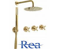 Душевой гарнитур набор REA EXIT GOLD + BOX