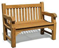 Лавочка скамья со спинкой 1200 х 580 мм от производителя Garden park bench 34