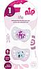 Пустышка Nip Моя жизнь, 0-6 мес., силикон, для девочки, 2 шт., фото 4