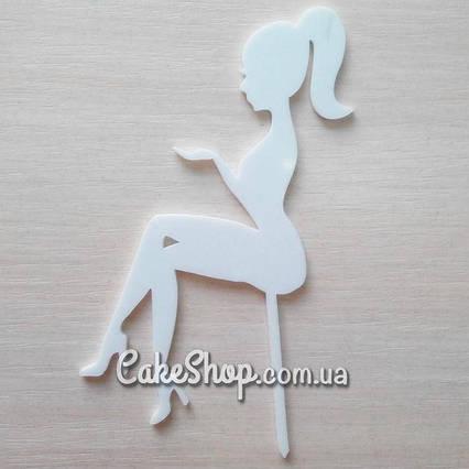 Акриловый белый топпер Девушка