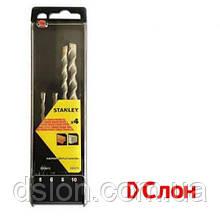 Набор буров SDS-Plus STANLEY STA56012, 4 штуки 5,0 / 6,0 / 8,0 / 10 мм.,   для кирпича и бетона,