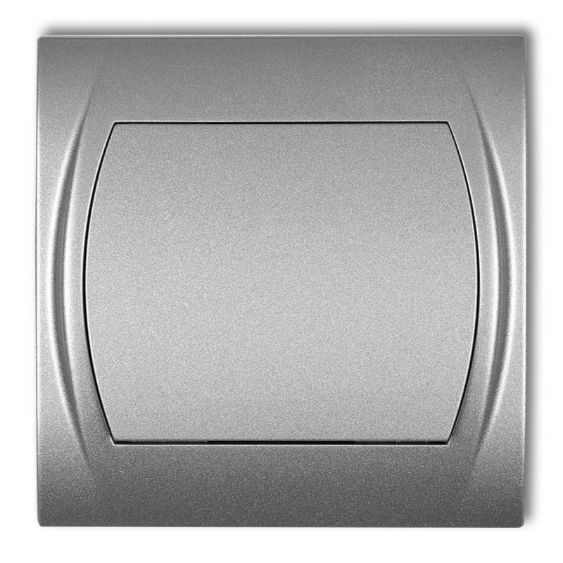 Выключатель подсветка Karlik Logo серебристый металлик 7LWP-1L внутренний серый одноклавишный кнопочный 1кл