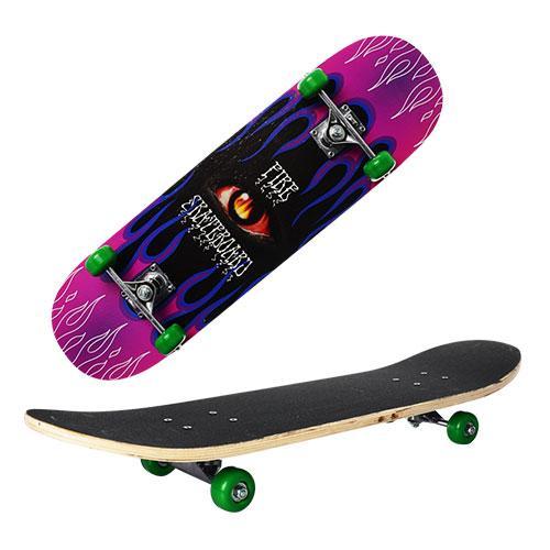 Детский скейт деревянный Profi 0322-2 размер деки 78-20 см