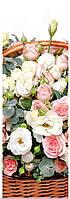 Подарочные бумажные пакеты БУТЫЛКА 12*9*36 см Белые цветы