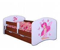 Детская односпальная кровать 160/80 HAPPY L04 ФЕЯ + Ящик + Матрас Венге