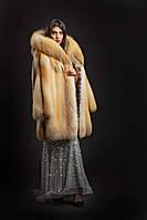 Шуба из лисы голд фокс, аукционный мех