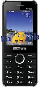 Мобильный телефон Maxcom MM136 Black-Silver Гарантия 12 месяцев