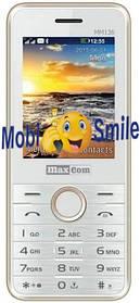 Мобильный телефон Maxcom MM136 White-Gold Гарантия 12 месяцев