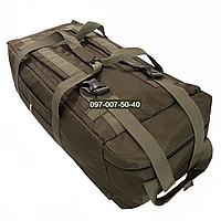 Сумка - рюкзак тактичний Oxford 1680г/м2 на 100л. (Койот)