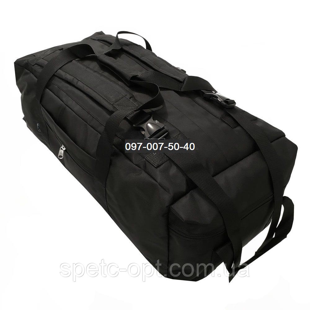 Сумка- рюкзак тактический Cordura 1000г/м² на 100л. (Черная)