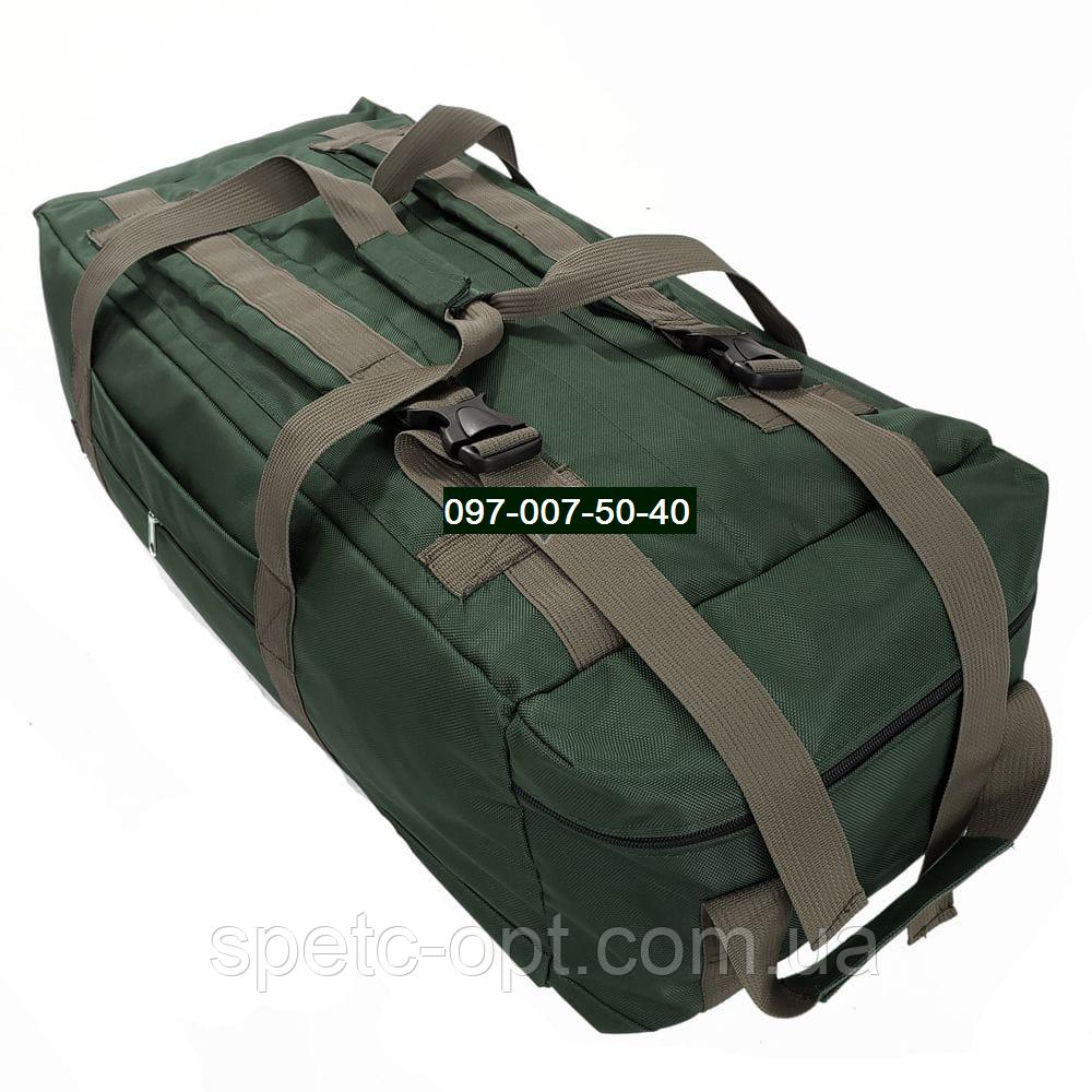 Сумка- рюкзак тактический Oxford 1680г/м² на 100л. (Зелёная)