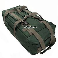 Сумка- рюкзак тактический Oxford 800г/м² на 100л. (Зелёная)