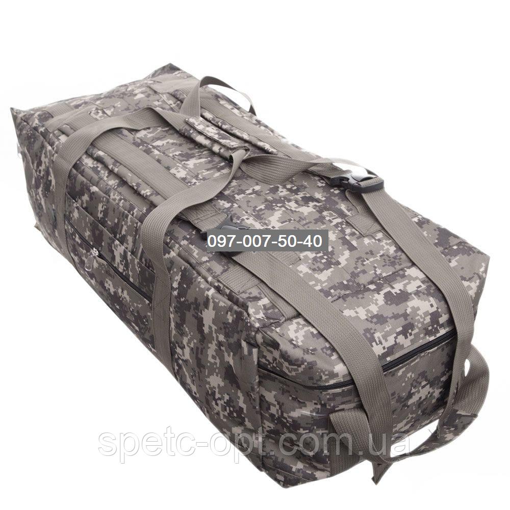 Сумка- рюкзак тактический Oxford 1680г/м² на 100л. (Пиксель)