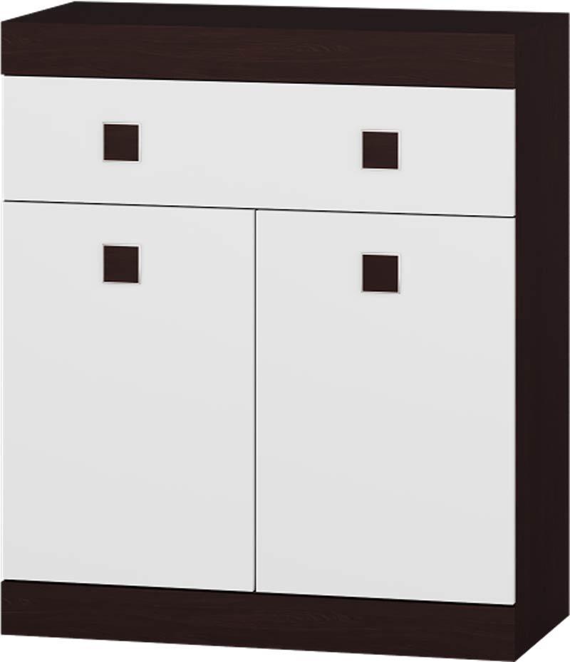 Комод 4 Соната ЭВЕРЕСТ Венге темный + Белый (80х38х93.5 см)