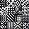 200Х200 Керамічна плитка стіна Фрістайл 5 чорно-білий об'єм