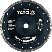 Диск отрезной алмазный 230 X 2 X 10 X 22.2 мм по керамограниту/ стеклу/ керамике YATO YT-59975 (Польша)