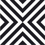 200Х200 Керамічна плитка стіна Фрістайл 5М чорно-білий, фото 4