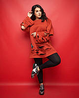Женская теплая кофта-туника 50-54 размеры