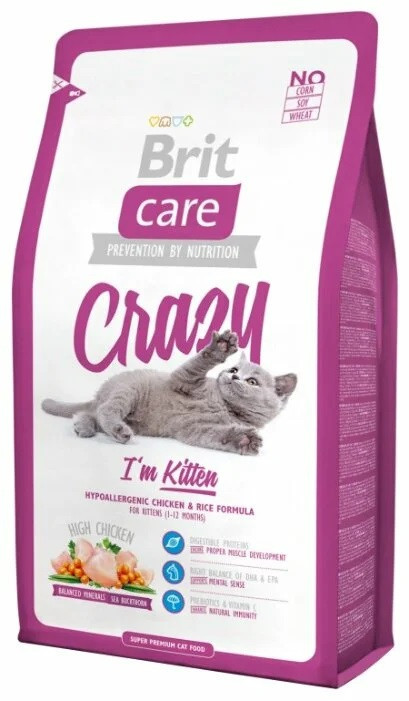 Корм для котят Brit Care Cat Crazy (для котят) 7кг