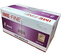 IME-FINE иголки 8 мм, универсальные к шприц-ручкам №100, фото 1