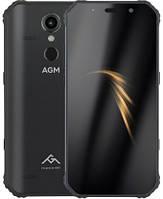 "Смартфон AGM A9 4/64GB Black, 12/16Мп, 5.99"" IPS, Snapdragon 450, 5400 маг, 4G"
