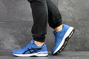 Мужские кроссовки Asics,сетка,синие с белым