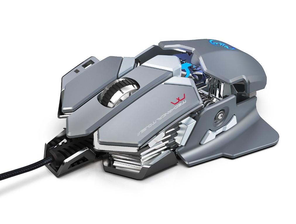 Миша комп'ютерна ігрова HXSJ J600 провідна сірий