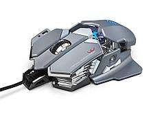 Мышь компьютерная игровая HXSJ J600 проводная серый