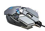 Миша комп'ютерна ігрова HXSJ J600 провідна сірий, фото 2