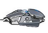 Миша комп'ютерна ігрова HXSJ J600 провідна сірий, фото 4