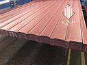 Матовый профнастил вишневый RAL 3005, темно-вишневый, вишневого цвета для забора и ворот РЕМА 3005, бордовый, фото 2