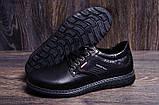 Чоловічі шкіряні туфлі Kristan black, фото 8