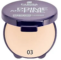 Компактна пудра для обличчя Parisa Cosmetics Prime And Fine №03 Насичений бежевий