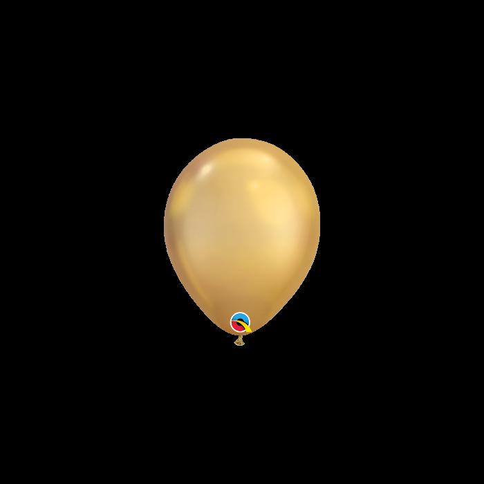 """Латексный шар Q 11"""" Хром золото"""