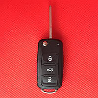 Корпус выкидного авто ключа для VOLKSWAGEN Passat, Jetta, Golf (Фольксваген Пассат, Джетта,Гольф) 3 + Panic