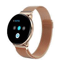 Cмарт часы с сенсорным экраном Full Touch Screen Smart Watch CF68 Golden с металлическим ремешком