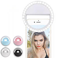Селфи кольцо на батарейках, Кольцевая лампа для телефона