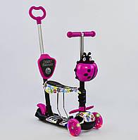 Самокат с сиденьем 5в1 для малышей Best Scooter (подсветка колес) (арт. 62310)