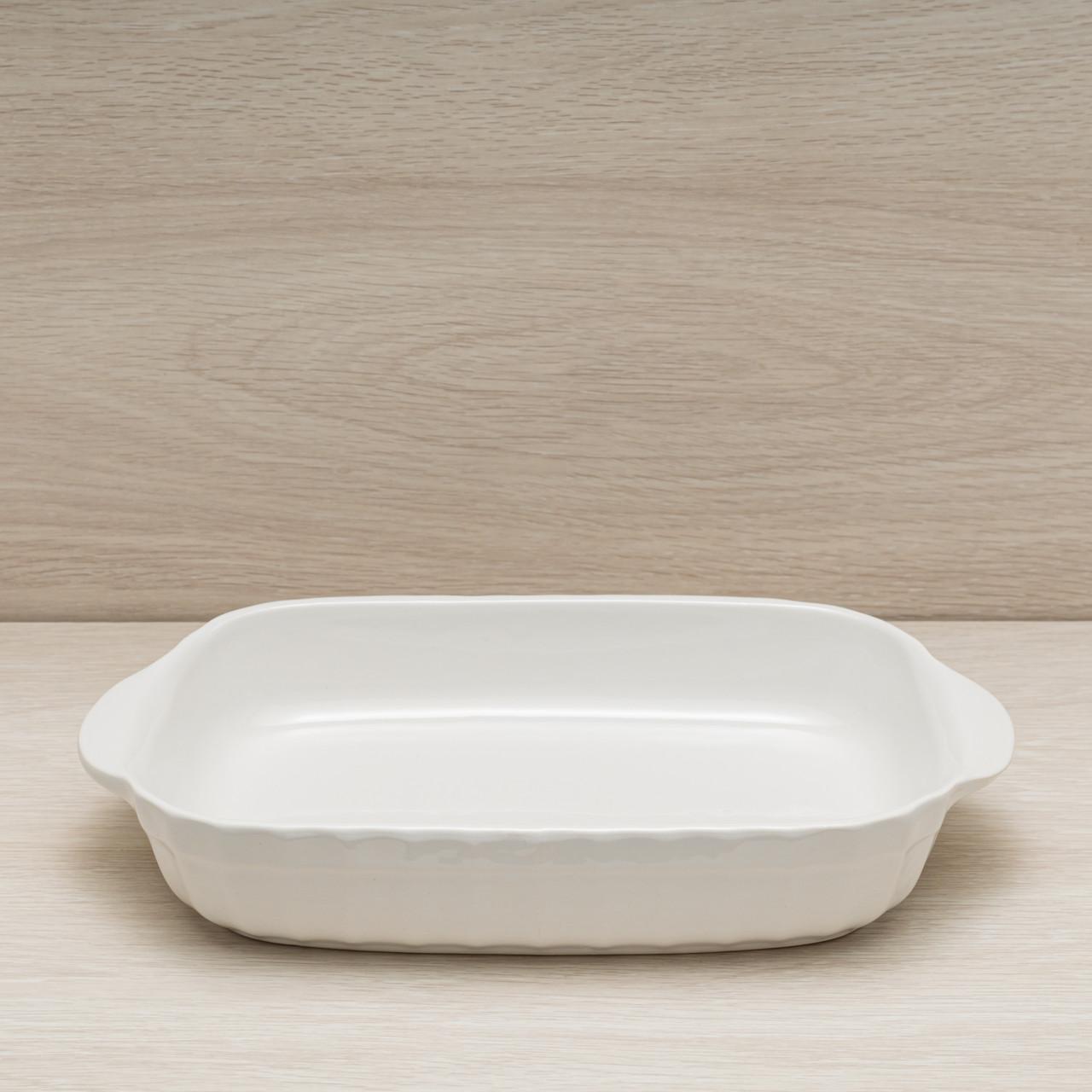 Противень керамический для запекания в духовке 1,7 л, белый