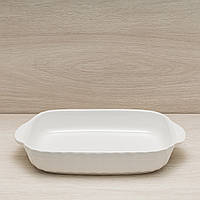 Противень керамический для запекания в духовке 1,7 л, белый, фото 1
