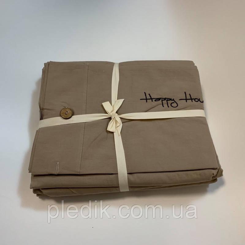 Двуспальное (евро) постельное белье 200х220 Французский лен Prestij Textile 649606