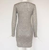 Стильне плаття туніка зі шнурівкою, фото 3
