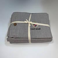 Двуспальное (евро) постельное белье 200х220 Французский лен Prestij Textile 649904