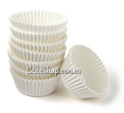 Бумажные формочки для капкейков Белые, h-3см