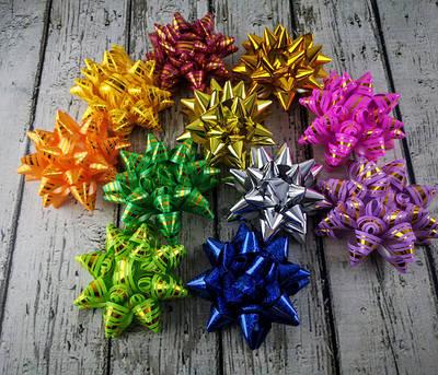 Бантики, цветочки для упаковки подарков