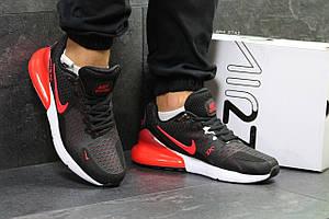 Мужские кроссовки Nike Air Max 270,черные с красным