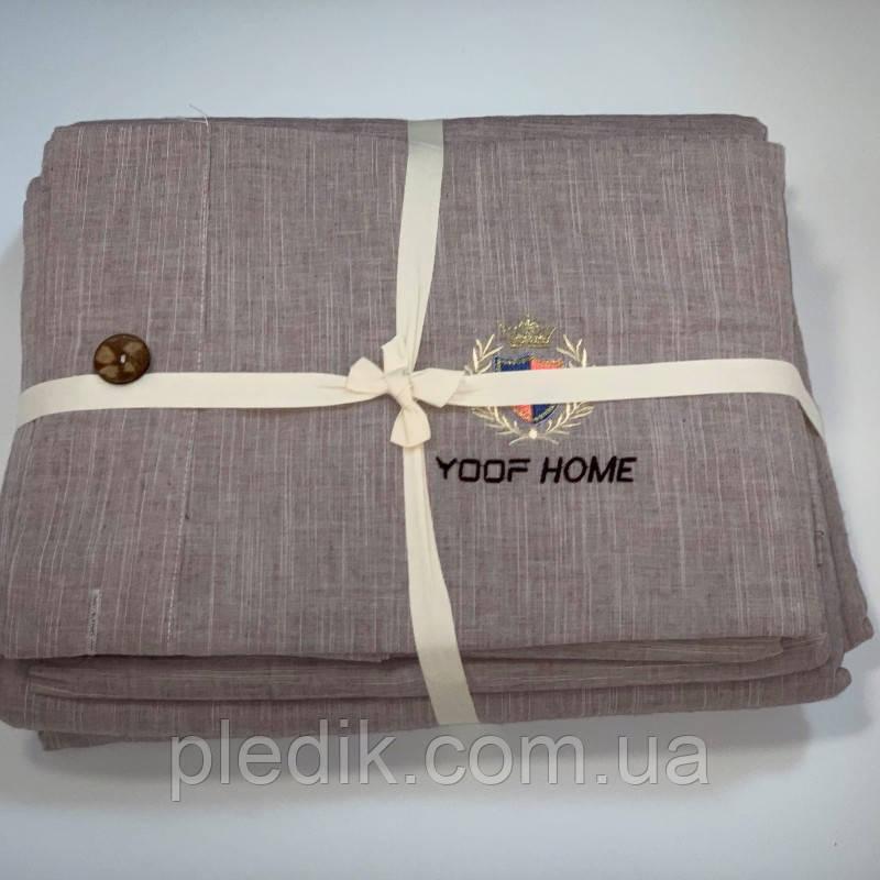 Двуспальное (евро) постельное белье 200х220 Французский лен Prestij Textile 649214
