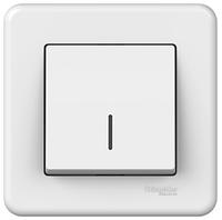 Выключатель одноклавишный с подсветкой белый Leona Schneider Electric