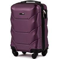 Дорожный чемодан пластиковый Wings 147 маленький ручная кладь 4 колеса фиолетовый