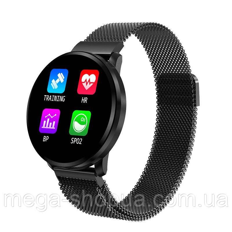 Сенсорные смарт-часы CF68 Black, спорт часы, умные часы, наручные часы, фитнес браслет, фитнес трекер